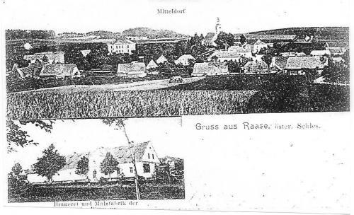 Střed obce, budova sladovny - později sklad