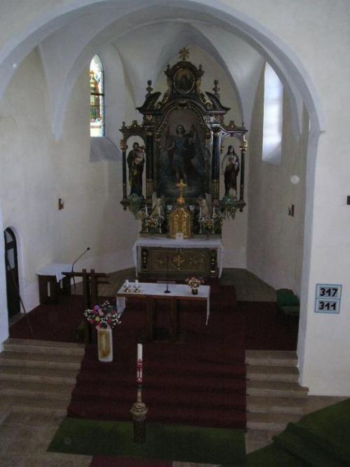oltář vkostele sv.Michala
